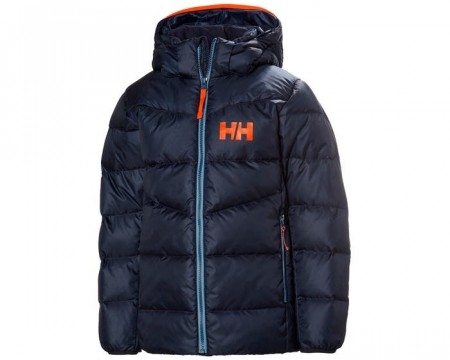 HELLY HANSEN JR ISFJORD DOWN MIX JACKET NAVY