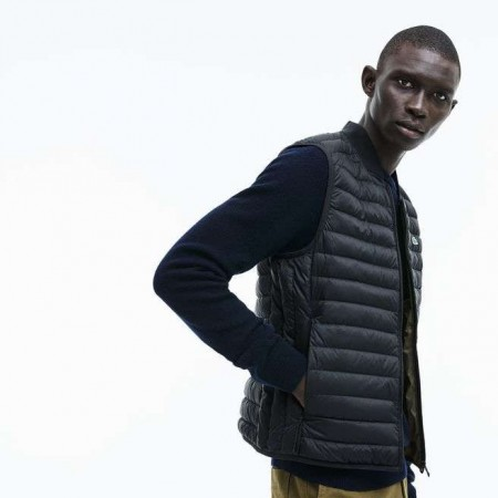 MEN´S SHORT CONTRAST LINING QUILTED VEST