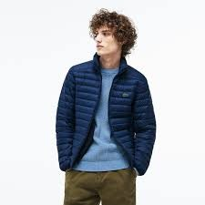 MEN´S SHORT CONTRAST LINING QUILTED JACKET