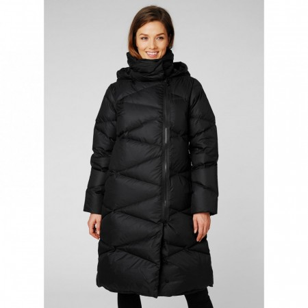 HELLY HANSEN W TUNDRA DOWN COAT - BLACK