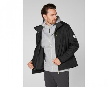 HELLY HANSEN CREW HOODED MIDLAYER JACKET BLACK