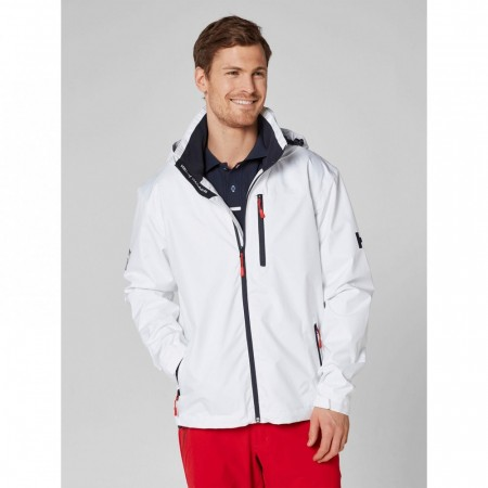 HELLY HANSEN CREW HOODED MIDLAYER JACKET WHITE