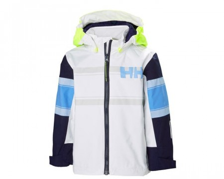 HELLY HANSEN K SALT COAST JACKET WHITE
