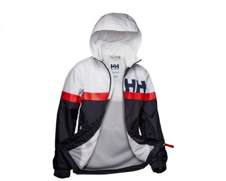 HELLY HANSEN JR ACTIVE RAIN JACKET NAVY