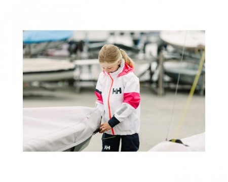 HELLY HANSEN JR SALT COAST JACKET WHITE