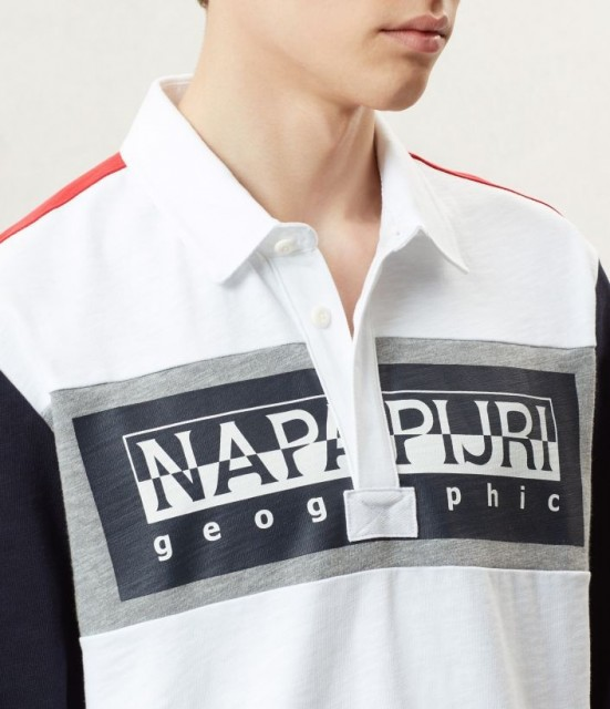 NAPAPIJRI Long sleeve Polo Shirt Emei close up