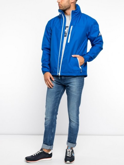 HELLY HANSEN CREW HOODED JACKET OLYMPIAN BLUE FRONT