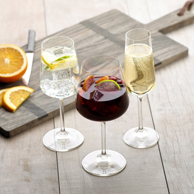 VILLEROY & BOCH - OVID CHAMPAGNE GLASS - 4 PIECES - 228 MM, 0,25 L