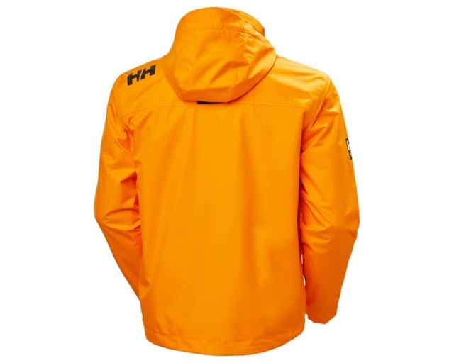 CREW HOODED MIDLAYER JACKET PAPAYA BACK