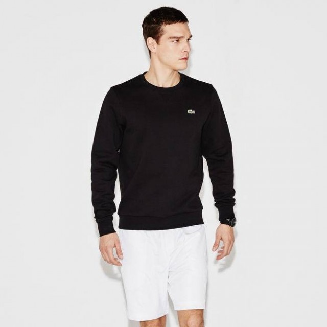 MEN´S SPORT CREW NECK SWEATSHIRT IN SOLID FLEECE
