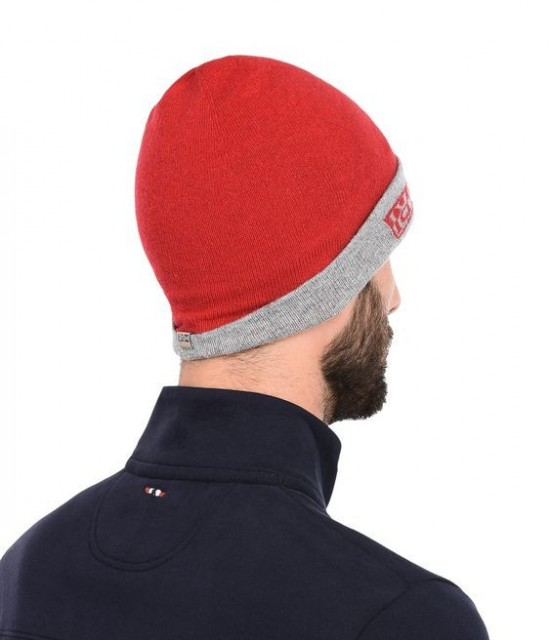 NAPAPIJRI-Beanie FOSS REVERSIBLE-Unisex Red-Grey