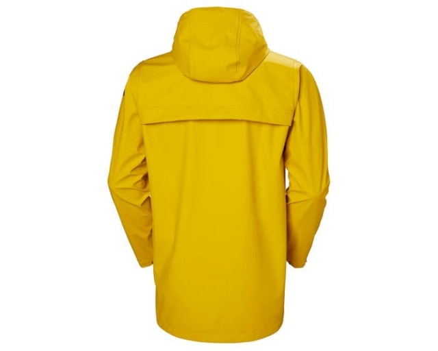 HELLY HANSEN MOSS RAIN COAT ESSENTIAL YELLOW BACK
