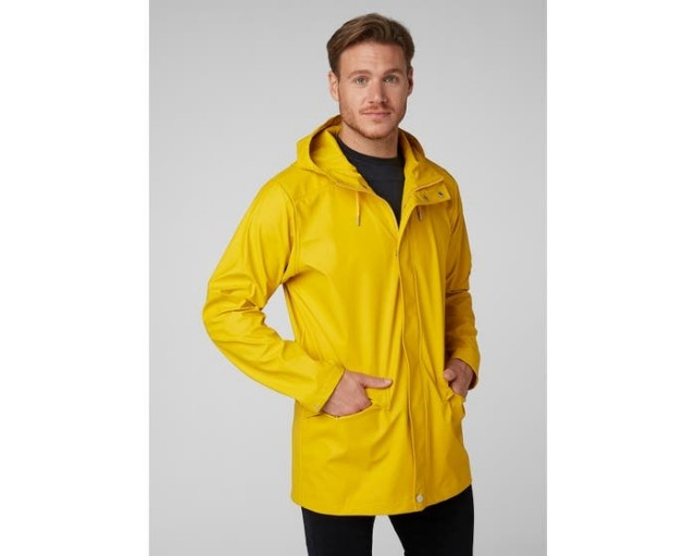 HELLY HANSEN MOSS RAIN COAT ESSENTIAL YELLOW FRONT