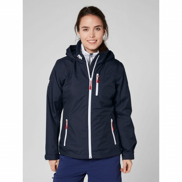 Crew Hooded Midlayer Jacket Navy Front