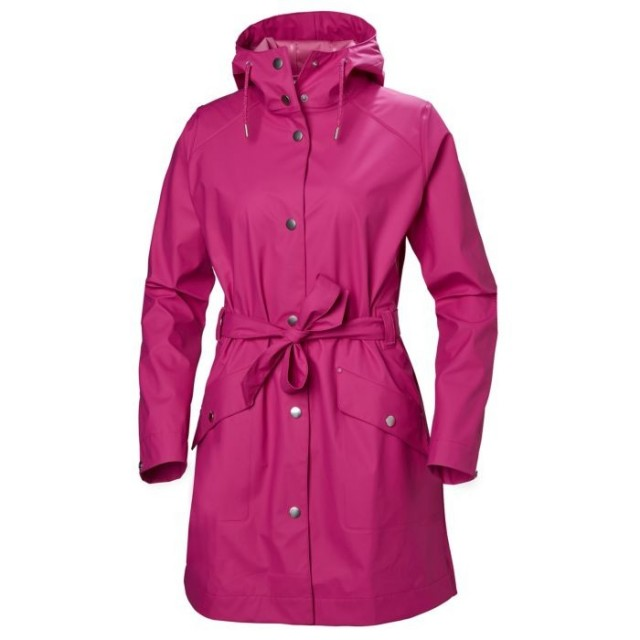 HELLY HANSEN W KIRKWALL II RAINCOAT DRAGON FRUIT FRONT