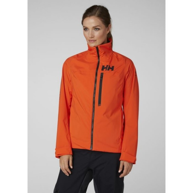 HELLY HANSEN W HP RACING MIDLAYER JACKET CHERRY TOMATO FRONT