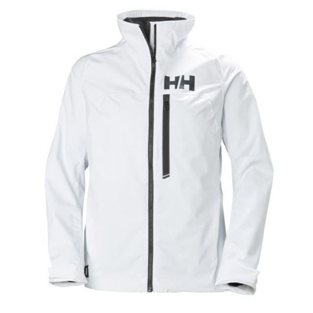 HELLY HANSEN W HP RACING MIDLAYER JACKET WHITE FRONT
