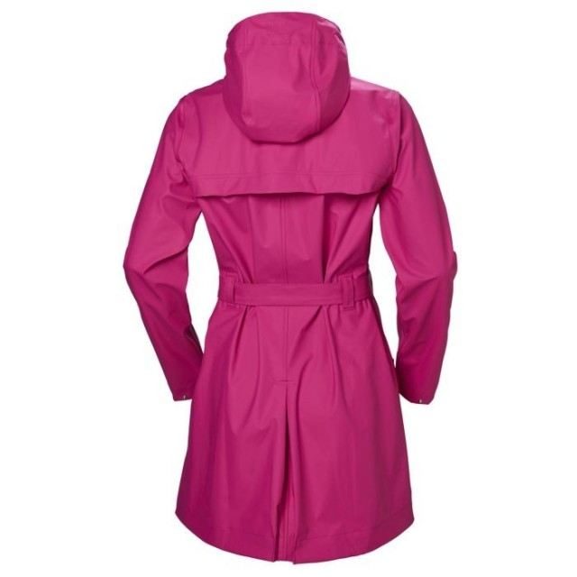 HELLY HANSEN W KIRKWALL II RAINCOAT DRAGON FRUIT BACK