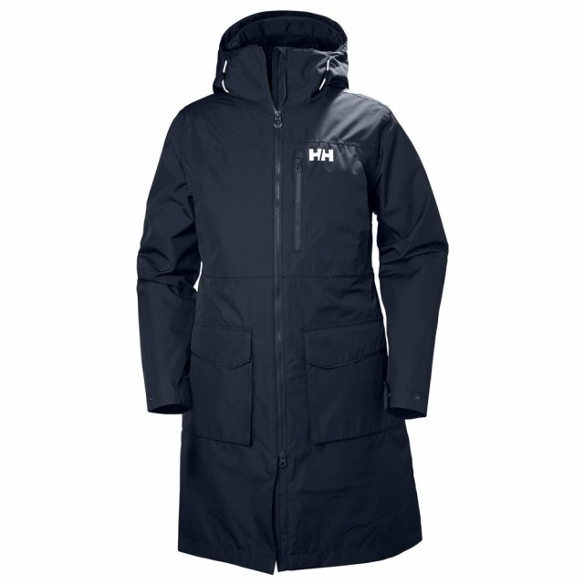 HELLY HANSEN W RIGGING COAT NAVY THE OUTER JACKET