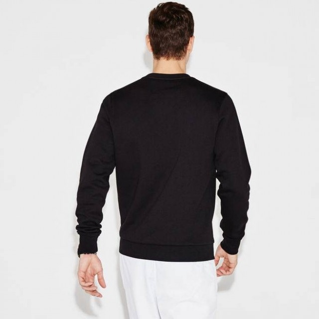 MEN´S SPORT CREW NECK SWEATSHIRT IN SOLID FLEECE-BACK