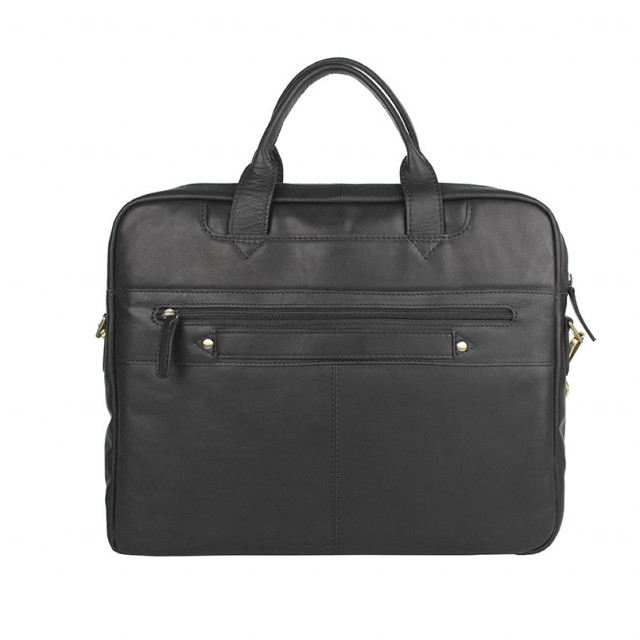 BRIEFCASE MEDIUM THE MONTE - Calf Leather - Back