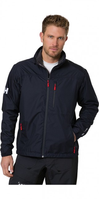 Crew Midlayer Jacket Black Navy