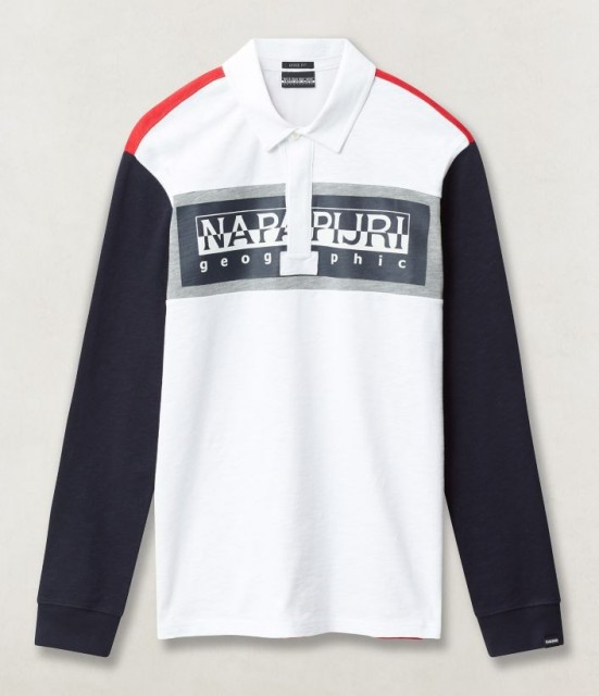 NAPAPIJRI Long sleeve Polo Shirt Emei Front