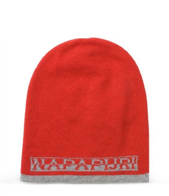 NAPAPIJRI-Beanie FOSS REVERSIBLE-Unisex-Red side