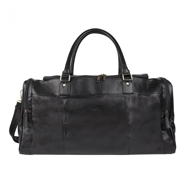 WEEKEND BAG LARGE THE MONTE - Calf Leather - Black - Front