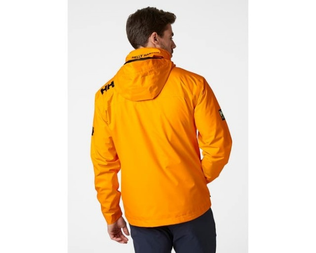 CREW HOODED MIDLAYER JACKET PAPAYA IMG BACK