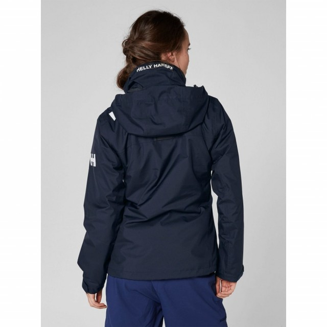 Crew Hooded Midlayer Jacket Navy